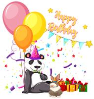 happy birthday panda card