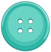 Isolated blue button on white background