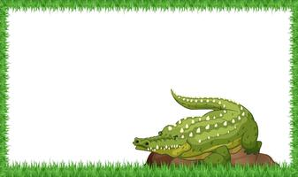 A crocodile on nature frame