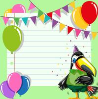toucan on a party invite