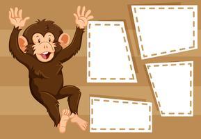 Scimmia sul modello di nota