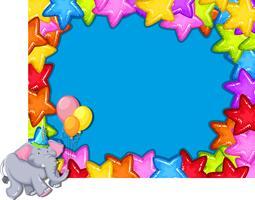Elephant on party border
