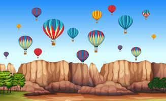 Eine wunderschöne Cappadocia-Szene