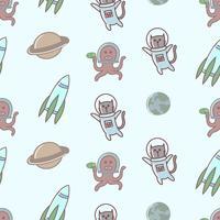 Astronaute de chat drôle mignon