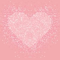 Pastel pink glitter heart . Shimmer love background.