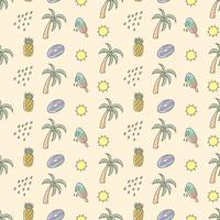 Cute summer seamless pattern