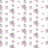 Cute valentines day seamless pattern