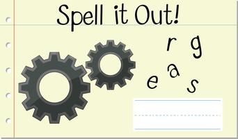 Spell English word gears