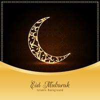 Resumen elegante Eid Mubarak fondo religioso