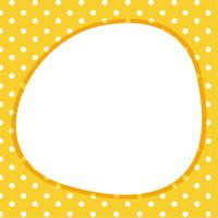 Card template with poka dots vector