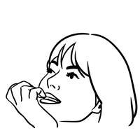 vettore di mangiarsi le unghie