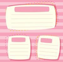 Uma nota em branco rosa