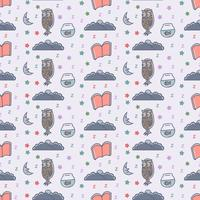 Good night seamless pattern