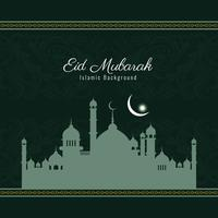 Abstract Eid Mubarak elegant background design vector