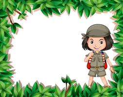 explorer girl in jungle