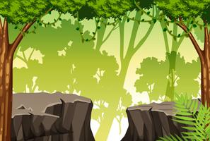 A mountain cliff scene vector
