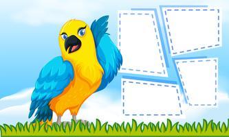 nota a tema uccello per la scrittura