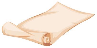 Una plantilla de rollo de papel
