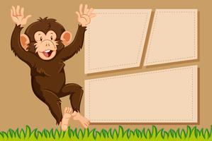 Una scimmia sul modello di nota