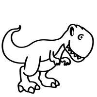 t-rex vettoriale eps