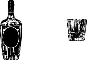 vector de vidrio de bourbon