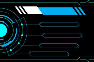 Blue abstract technology future interface hud