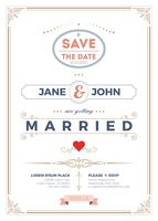 Vintage Hochzeit Einladung Kartenvorlage