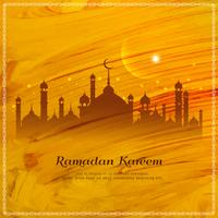 Abstract Ramadan Kareem watercolor style background