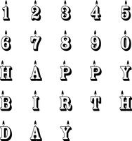 birthday candles vector eps
