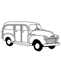 station wagon vector eps