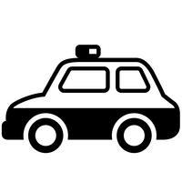 Polizeiwagen Vektor Eps