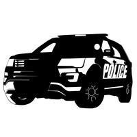 policía coche vector eps