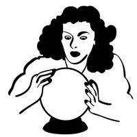 vecteur de boule de cristal