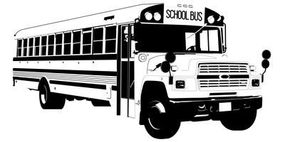 school bus vector eps