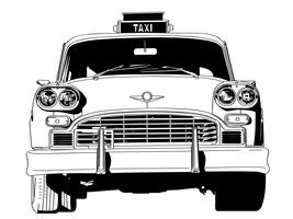 taxi, vecteur, eps