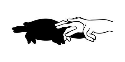 hand animal shadow vector