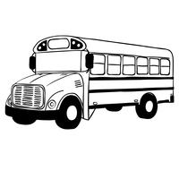 school bus vector eps