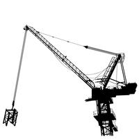 vecteur de construction grue eps