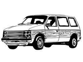minivan vettoriale eps