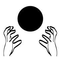 kristall boll vektor