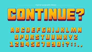 Game bold orange typography design vector
