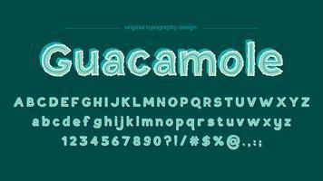 Conception abstraite de la typographie verte mignonne