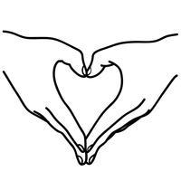 hand hart vector