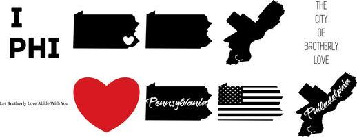 carte de Philadelphie en Pennsylvanie