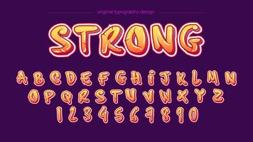Modern comic bold typography design vector
