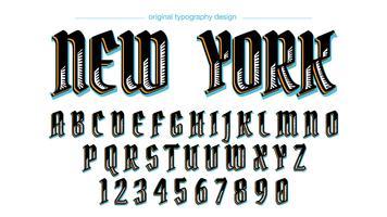 Conception de typographie vintage personnalisée