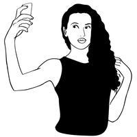 selfie meisje vector