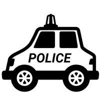 carro de polícia vector eps