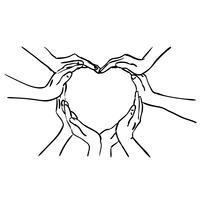 Hand Herz Vektor