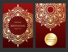 Wedding invitation or card with abstract background. Islam, Arabic, Indian, Dubai.